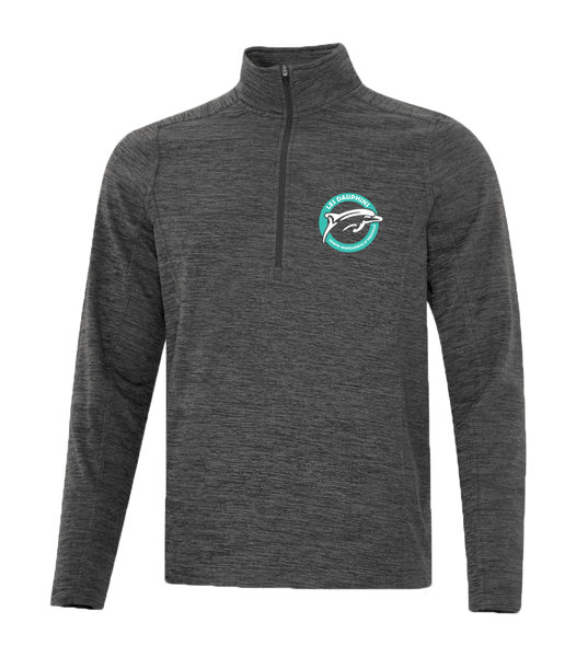 Dauphins Staff 1/2 Zip Sweater With Embroidered Logo