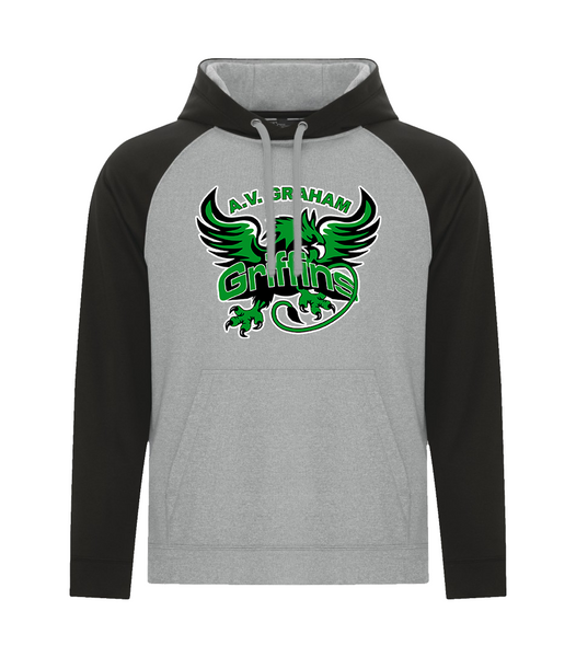Griffins Youth Two Toned Hoodie with Embroidered Applique Logo & Personalized Lower Back