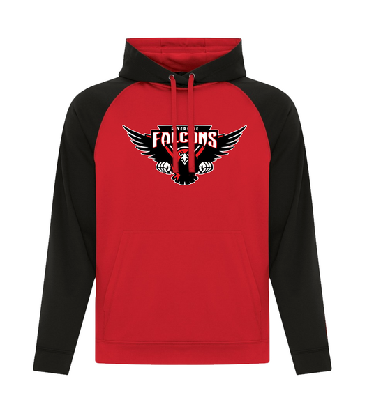 Falcons Adult Two Toned Hoodie with Printed Logo