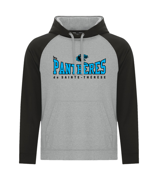 Pantheres Adult Two Toned Hoodie with Embroidered Applique Logo