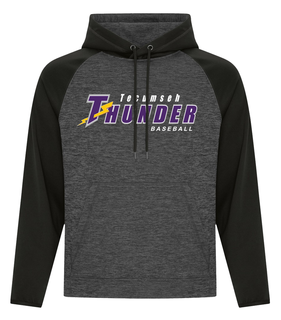 Thunder Adult Two Tone Hooded Sweatshirt with Embroidered Applique Logo