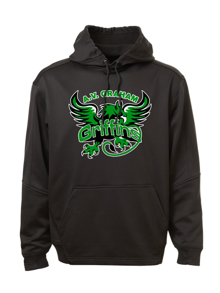 Griffins Youth Dri-Fit Hoodie with Personalized Lower Back
