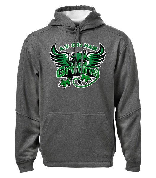 Griffins Adult Dri-Fit Hoodie with Personalized Lower Back