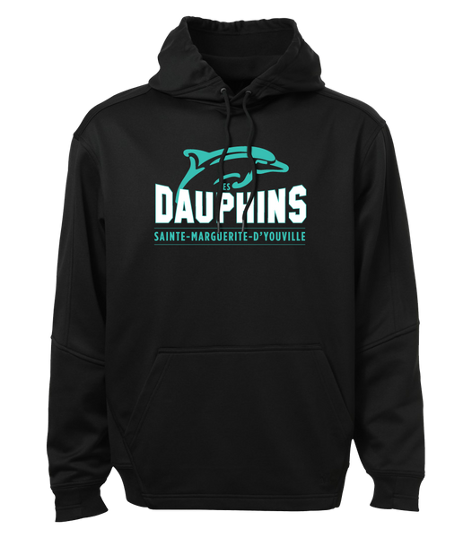 Dauphins Adult Dri-Fit Hoodie with Embroidered Applique Logo