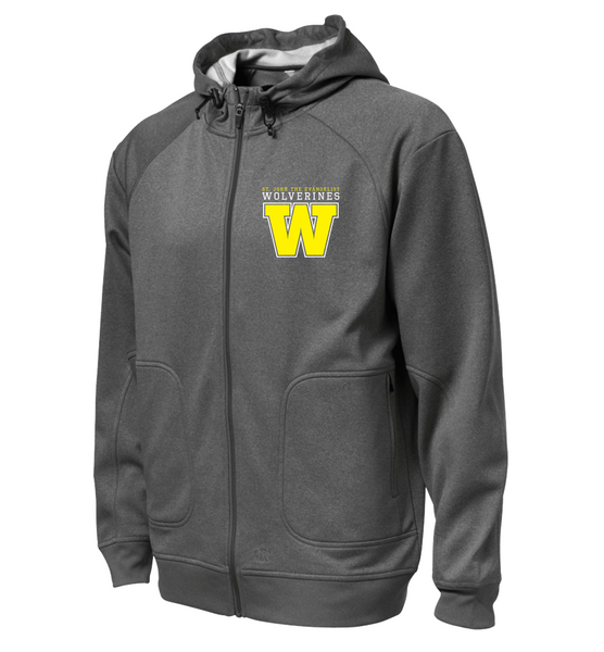 Wolverines Staff Adult Hooded Yoga jacket with Embroidered Logo & Personalized Left Sleeve