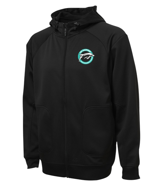 Dauphins Staff Adult Hooded Yoga jacket with Embroidered Logo