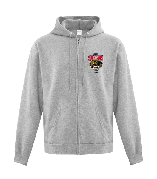 Sabrecats Youth Cotton Full Zip Hooded Sweatshirt with Embroidered Left Chest & Personalization