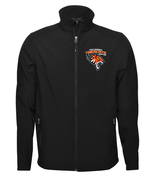 Tiger Cats Youth Soft Shell Jacket with Embroidered Left Chest