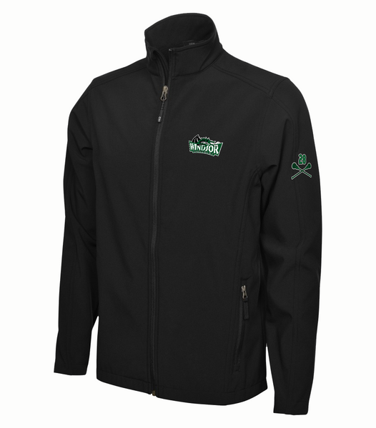 Warlocks Adult Soft Shell Jacket with the Number on a Sleeve