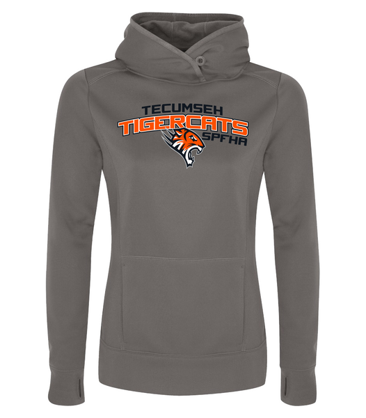 Tiger Cats Dri-Fit Ladies Sweatshirt with Embroidered Applique & Personalization
