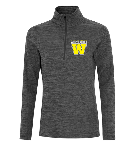 Wolverines Staff Ladies 1/2 Zip Sweater with Personalized Left Sleeve
