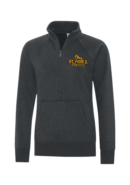 Pacers Staff Ladies Vintage 1/4 Zip Sweatshirt with Embroidered Logo & Personalization