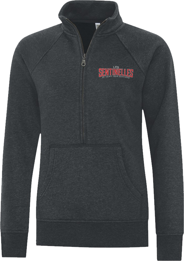 Sentinelles Ladies Vintage 1/4 Zip Sweatshirt with Embroidered Logo