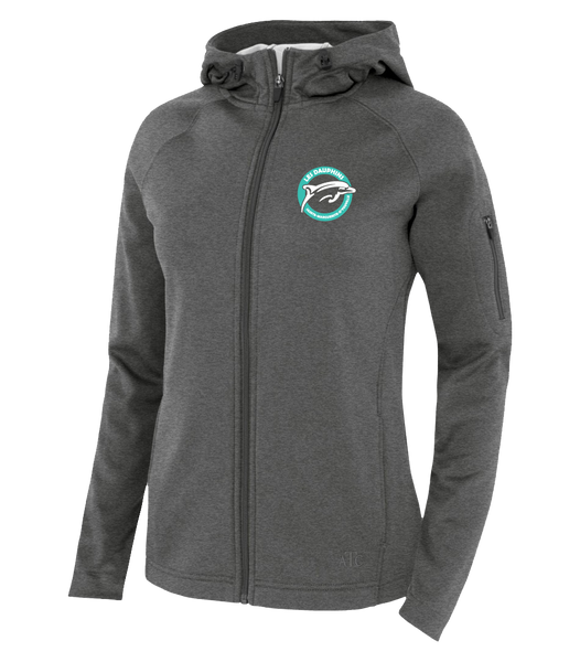 Dauphins Staff Ladies Hooded Yoga jacket with Embroidered Logo