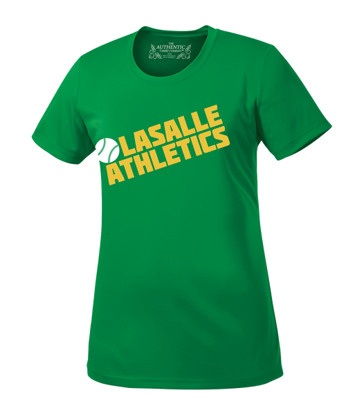 LaSalle Athletics Ladies 'Block Slant' Dri-Fit Tee