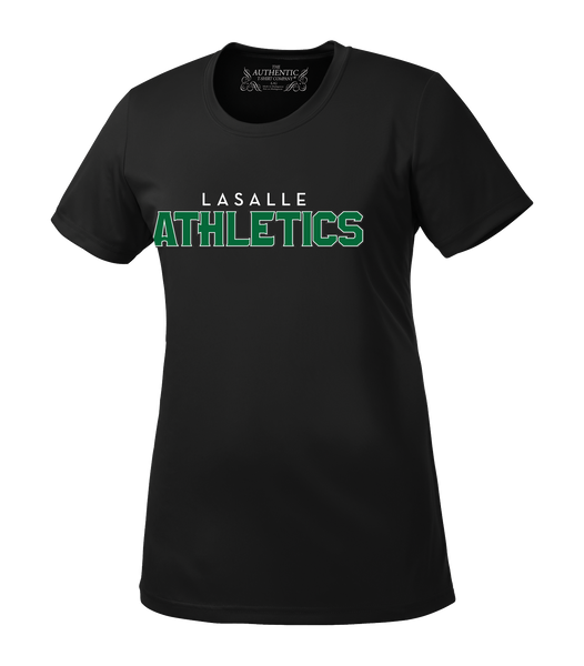 LaSalle Athletics Ladies 'Outline Block' Dri-Fit Tee
