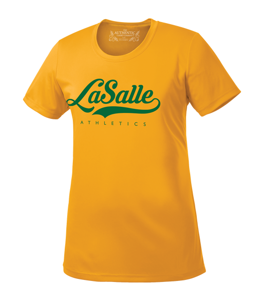 LaSalle Athletics Ladies 'Alternate Script' Dri-Fit Tee