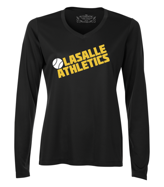 LaSalle Athletics Ladies 'Block Slant' Dri-Fit Long Sleeve
