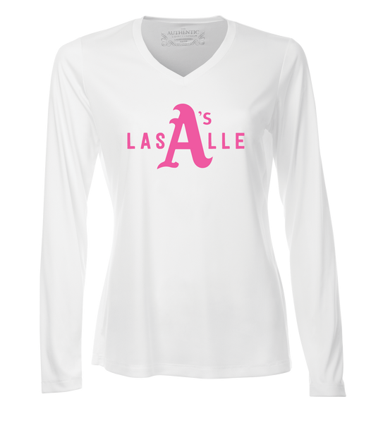 LaSalle Athletics Ladies 'LaSalle Big A' Dri-Fit Long Sleeve