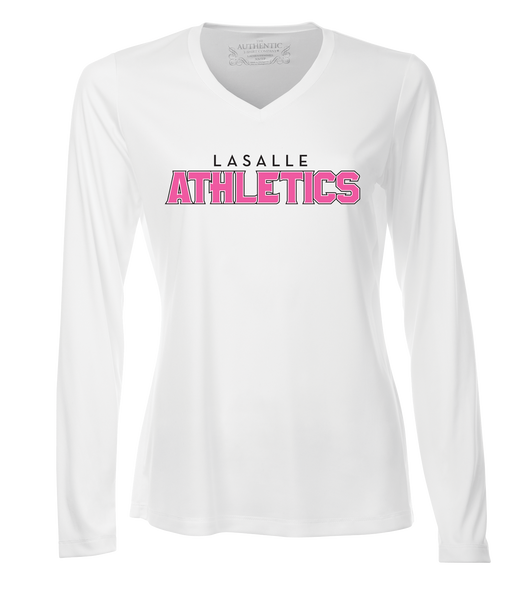 LaSalle Athletics Ladies 'Outline Block' Dri-Fit Long Sleeve