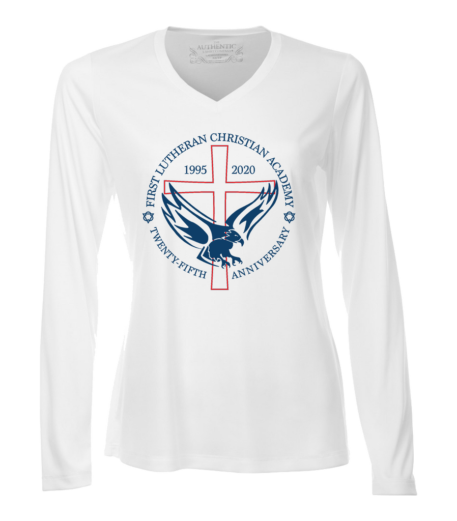 Ladies 25th Anniversary Dri-Fit Long Sleeve with Printed Logo