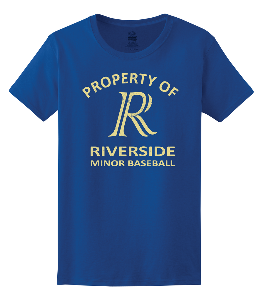 Property of Riverside Minor Baseball Ladies Tee
