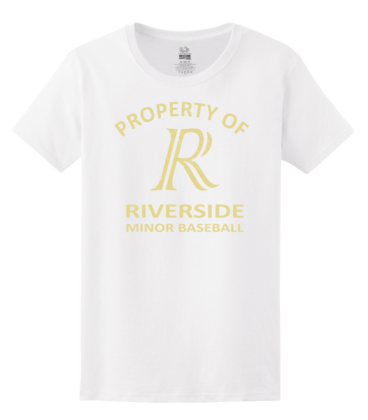 Royals Ladies 'Property of Riverside Minor Baseball' Tee