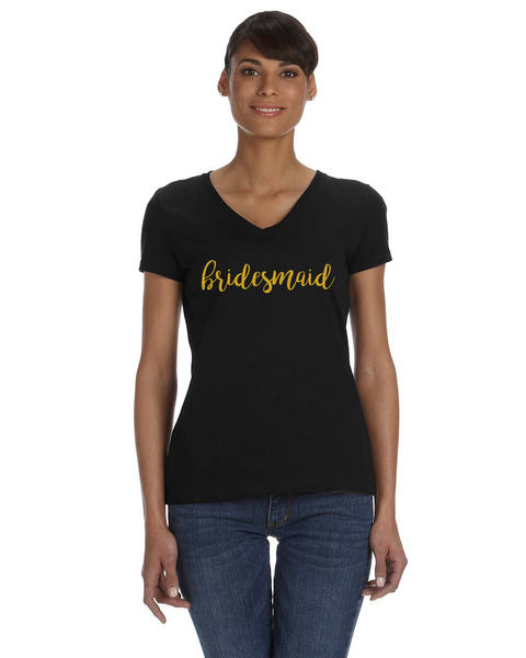 Bridesmaid V-Neck T-Shirt