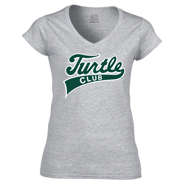 Turtle Club Ladies V-Neck Tee