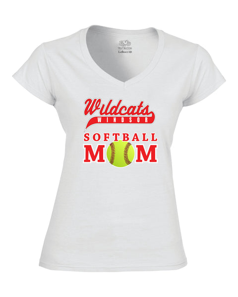 Windsor Wildcats Ladies Softball Mom Tee
