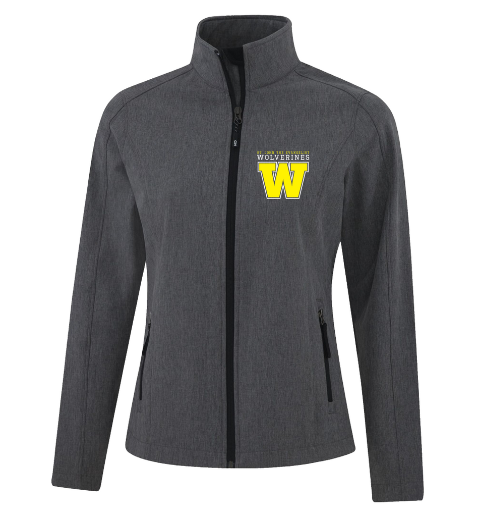 Wolverines Staff Ladies Soft Shell Jacket with Personalized Left Sleeve