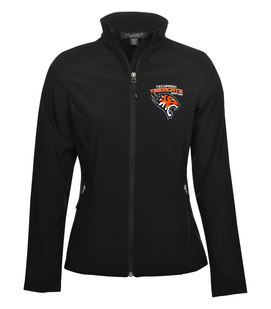 Tiger Cats Soft Shell Ladies Jacket with Embroidered Left Chest