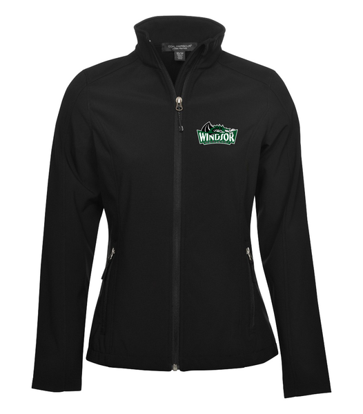 Warlocks Ladies Soft Shell Jacket with the Number on a Sleeve