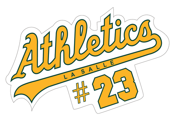 LaSalle Athletics Decal with Number