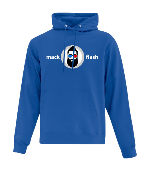 """Mack Flash"" Adult Cotton Hooded Sweatshirt with Printed logo"