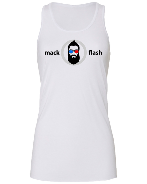 """Mack Flash"" Ladies' Flowy Racerback Tank with Printed logo"
