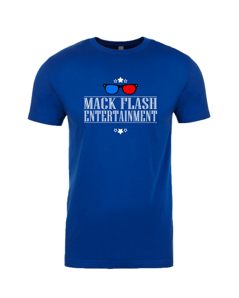 """Mack Flash Entertainment"" Adult Cotton T-Shirt with Printed logo"