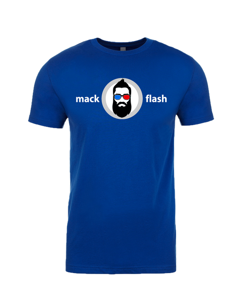 """Mack Flash"" Adult Cotton T-Shirt with Printed logo"
