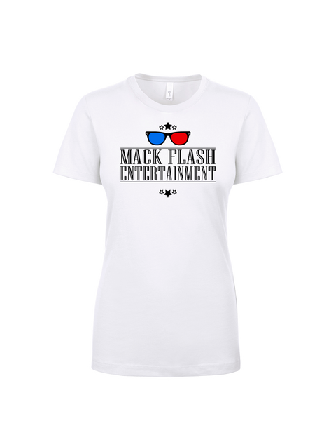 """Mack Flash Entertainment"" Ladies Cotton T-Shirt with Printed logo"