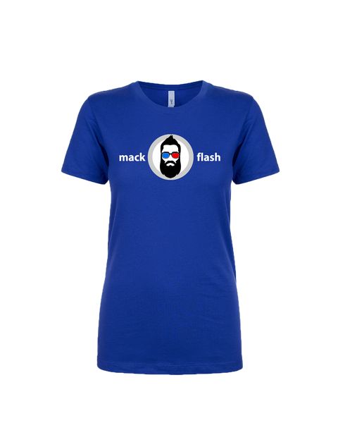 """Mack Flash"" Ladies Cotton T-Shirt with Printed logo"