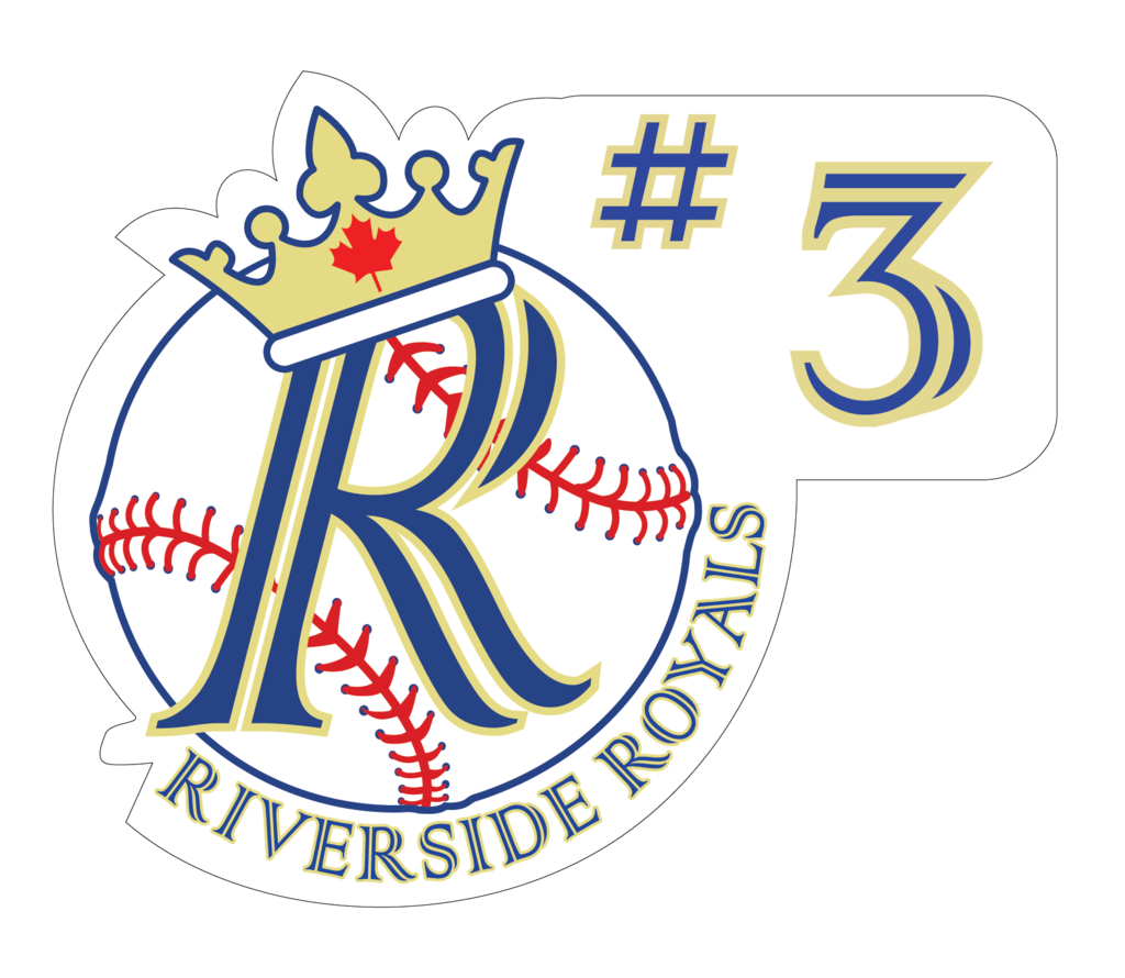 Riverside Minor Baseball Decal with Number