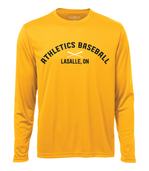 Athletics Adult 'Dugout Logo' Dri-Fit Long Sleeve