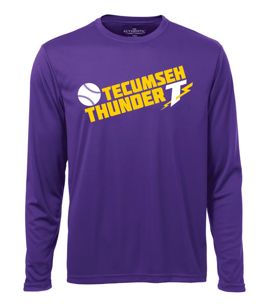Tecumseh Thunder 'Block Slant' Dri-fit Long Sleeve