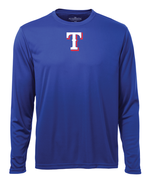 "Rangers Adult ""T"" Logo Dri-Fit Long Sleeve"