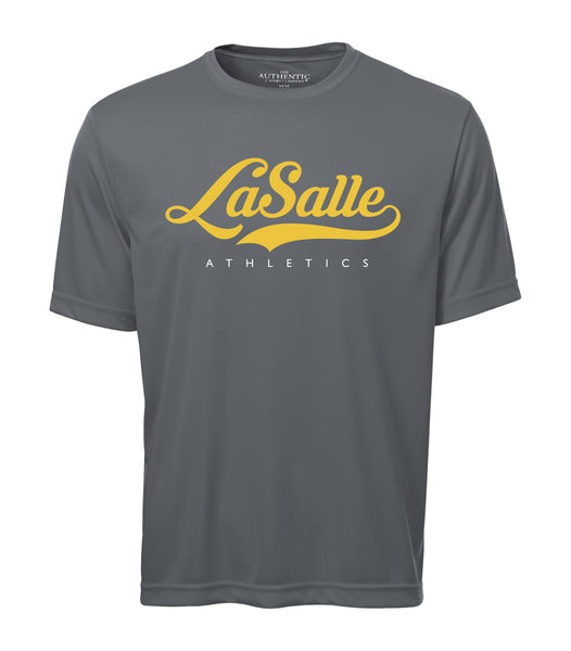LaSalle Athletics 'Alternate Script' Adult Dri-Fit Tee