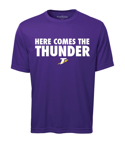 Thunder Adult 'Here Comes the Thunder' Dri-Fit Tee