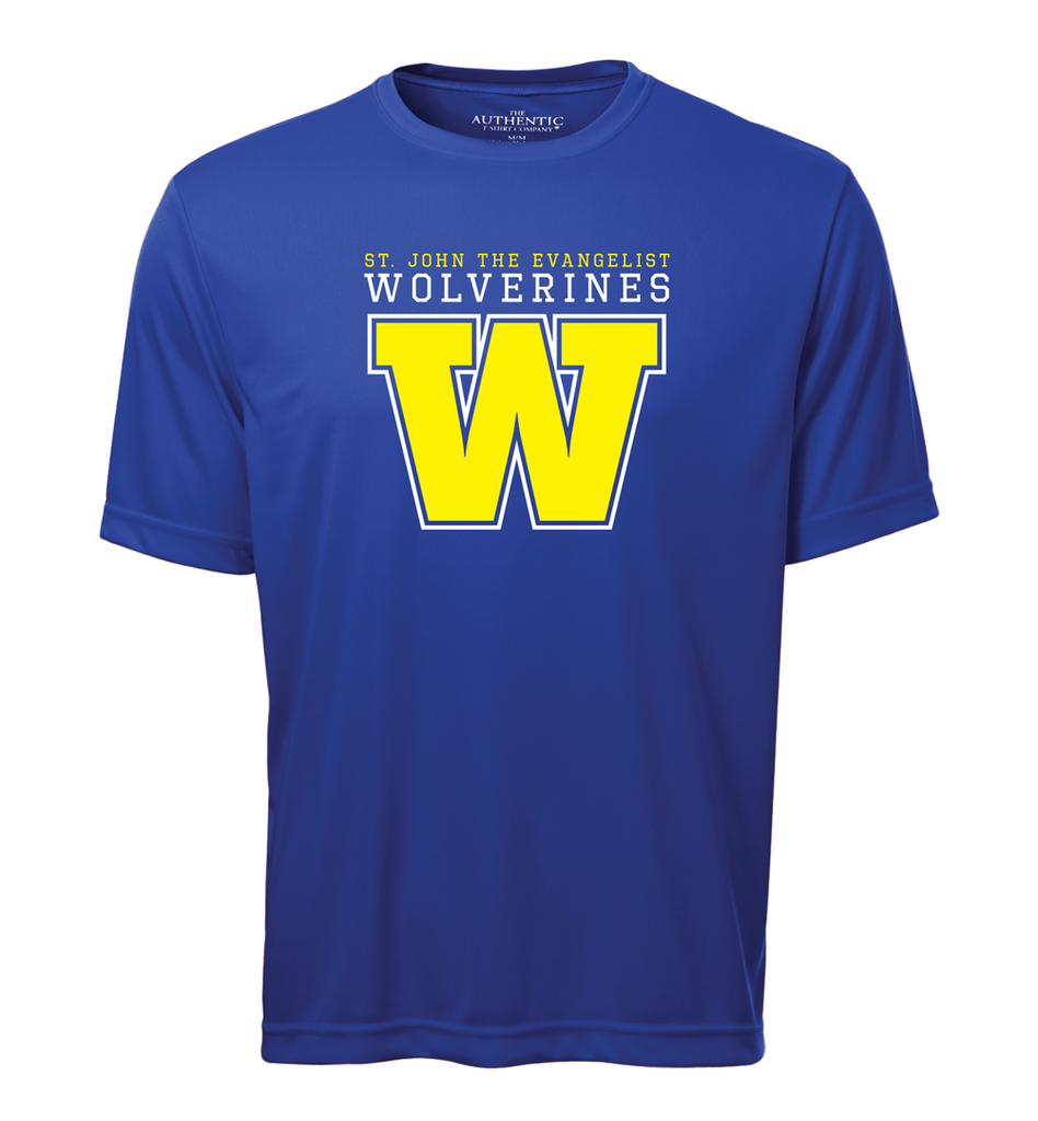 Wolverines Staff Adult Dri-Fit T-Shirt with Printed Logo