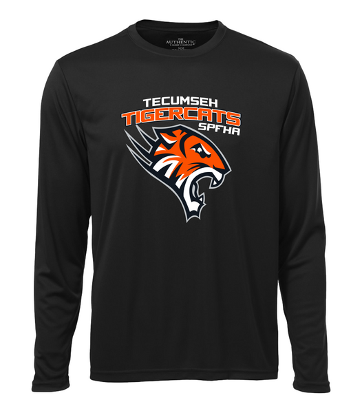 Tiger Cats Dri-Fit Long Sleeve Youth Tee with Printed Logo