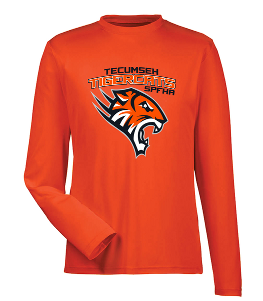 Tiger Cats Dri-Fit Long Sleeve Adult Tee with Printed Logo
