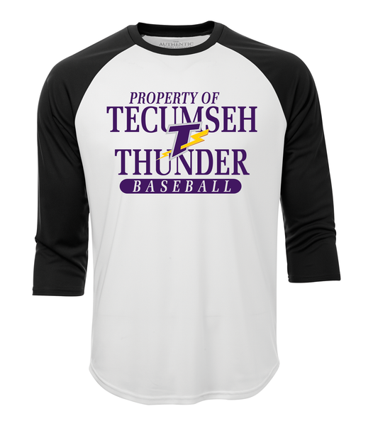 Property of Tecumseh Thunder Adult Dri-Fit Baseball Tee